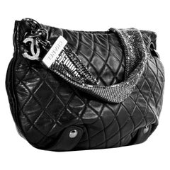 Chanel Mesh Chainmail Lambskin Quilted Tote Bag Small