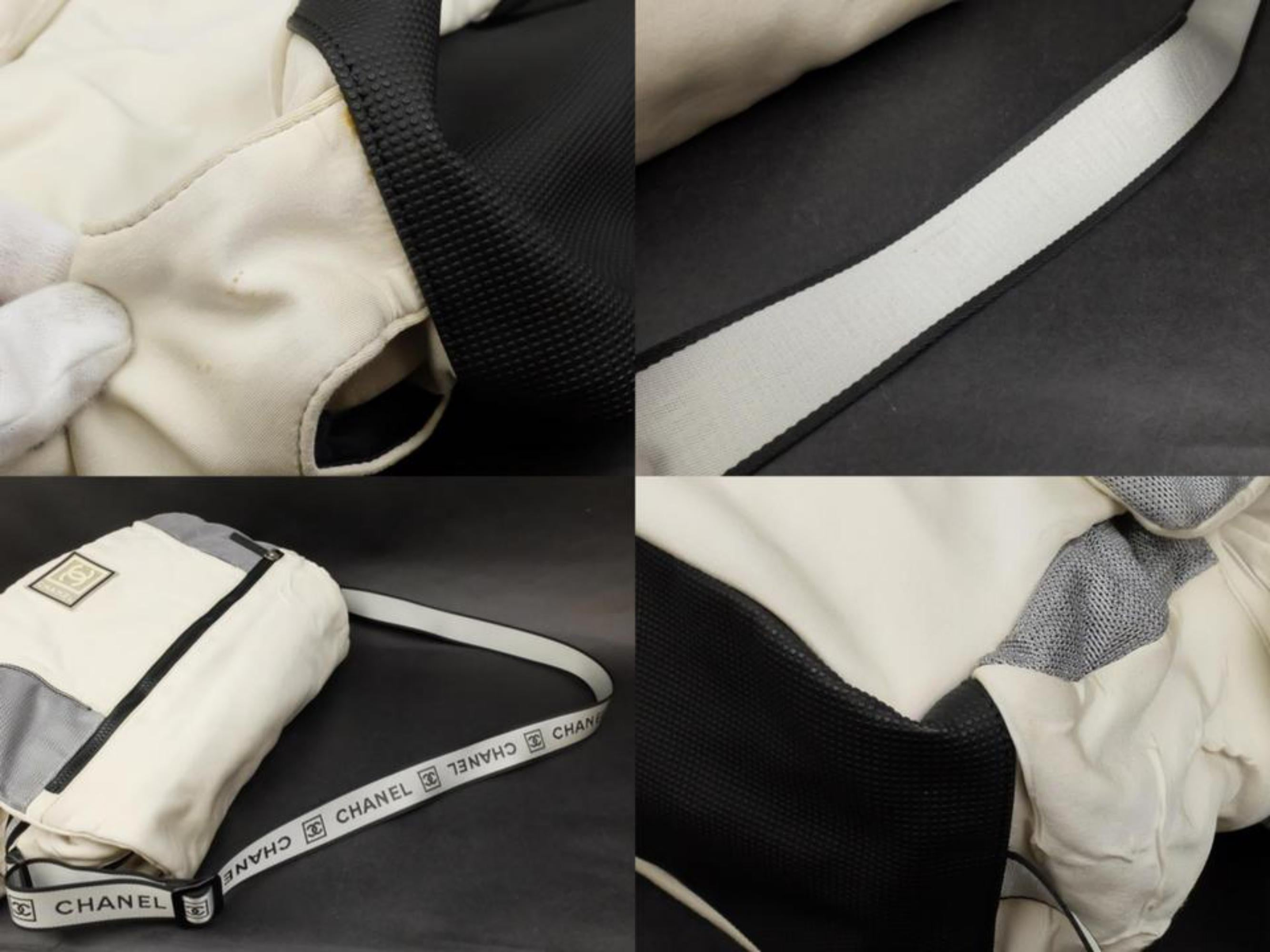 f14f4af85024 Chanel Messenger Large Cc Sports Logo 228822 White Nylon Cross Body Bag at  1stdibs