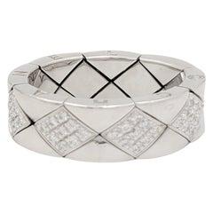 Chanel 'Metalassé' White Gold and Diamond Ring