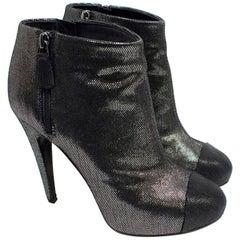 Chanel Metallic Ankle Boots - EU  38.5