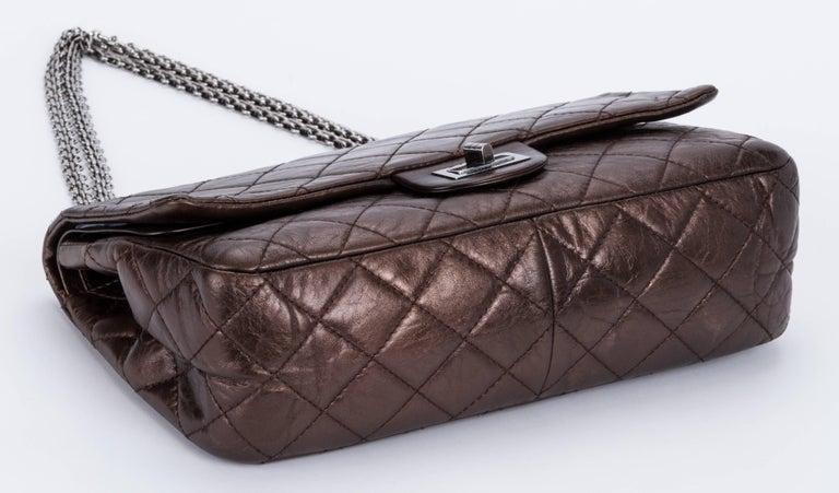 Women's Chanel Metallic Bronze Jumbo Reissue Bag For Sale