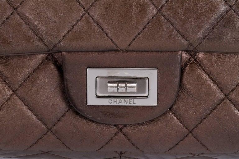 Chanel Metallic Bronze Jumbo Reissue Bag For Sale 1