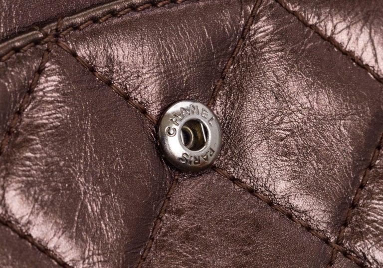 Chanel Metallic Bronze Jumbo Reissue Bag For Sale 2