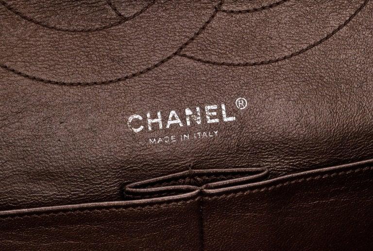 Chanel Metallic Bronze Jumbo Reissue Bag For Sale 3