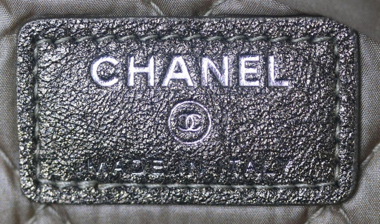 Chanel Metallic Calf-Hair Boy O Case Bag  For Sale 5