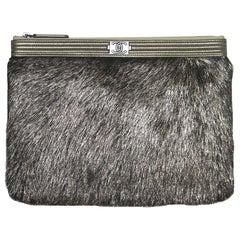 Chanel Metallic Calf-Hair Boy O Case Bag