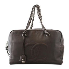 Chanel Metallic Deerskin Brown Tote Bag