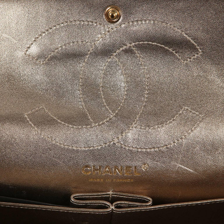 Chanel Metallic Gold Leather Reissue Flap Bag For Sale 5