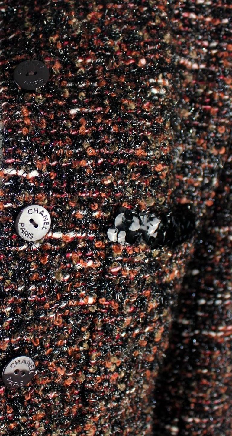 Chanel Metallic Lesage Fantasy Tweed Sequin Trimmed Coat  For Sale 5