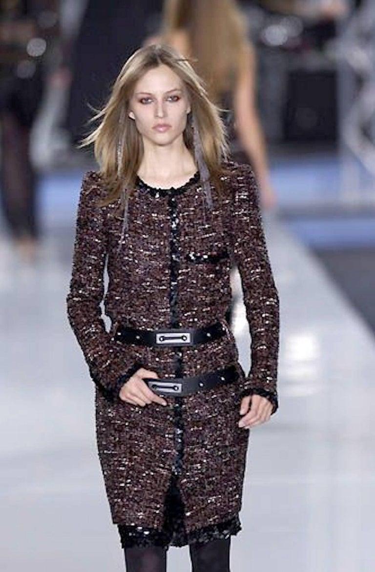 Chanel Metallic Lesage Fantasy Tweed Sequin Trimmed Coat  For Sale 7
