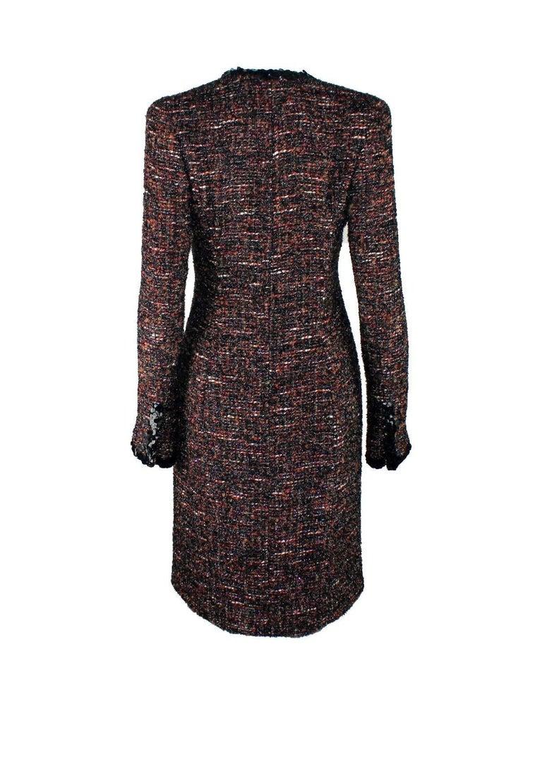 Black Chanel Metallic Lesage Fantasy Tweed Sequin Trimmed Coat  For Sale