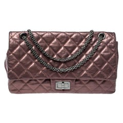Chanel Metallic Light Plum Quilted Leather Reissue 2.55 Classic 227 Flap Bag