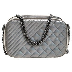 Chanel Metallic  Ombre Patent Leather Small Coco Boy Camera Case Shoulder Bag