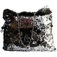 Chanel-metallische Pailletten-Shopper-Tasche