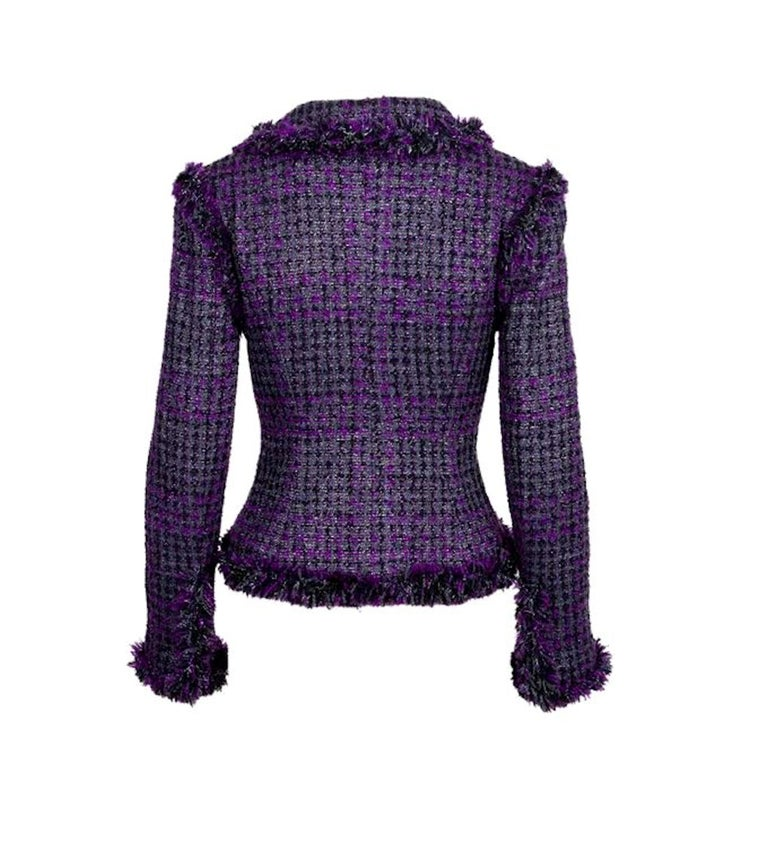 GORGEOUS - A TIMELESS CLASSIC  A CHANEL SIGNATURE TWEED JACKET  DESIGNED BY KARL LAGERFELD  A TRUE CHANEL PIECE THAT SHOULD BE IN EVERY WOMAN'S WARDROBE   Beautiful CHANEL fantasy tweed jacket designed by Karl Lagerfeld A true CHANEL signature item