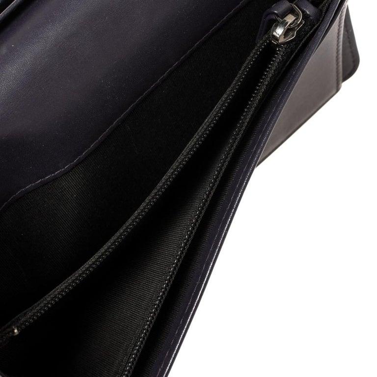 Chanel Metallic Purple Leather CC Bifold Wallet For Sale 3