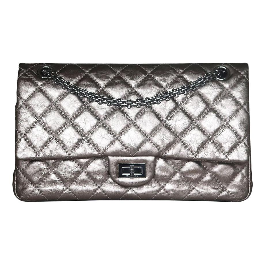 Chanel Metallic Quilted Calfskin 2.55 Reissue Double Flap Bag