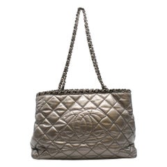 Chanel Metallic Silver Chain Me Tote Bag