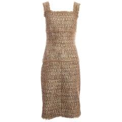 Chanel metallic tweed dress ss 2005