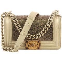 Chanel Metiers d'Art Boy Flap Bag Python Small