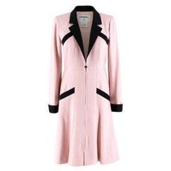 Chanel Milkshake Pink Silk Tweed Coat FR 36