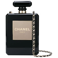 Chanel Minaudière Clutch Perfume Bottle Limited Edition Black Plexiglass Bag