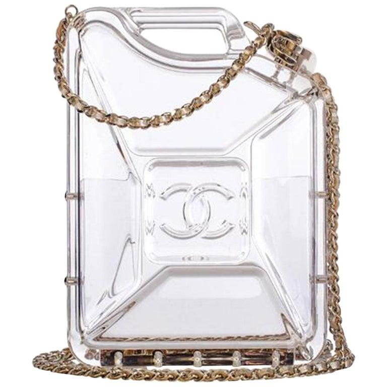 Chanel Minaudière Gasoline Clear Ghw Plexiglass Clutch For Sale
