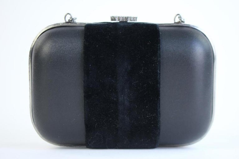 Chanel Minaudière Metiers D'art Crystal 5ccty71417 Black Clutch In Excellent Condition For Sale In Forest Hills, NY