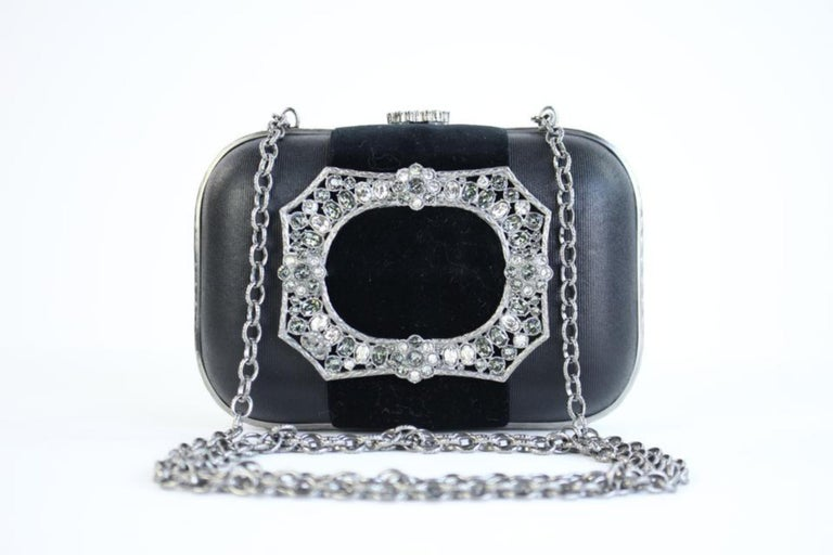 Chanel Minaudière Metiers D'art Crystal 5ccty71417 Black Clutch For Sale 4