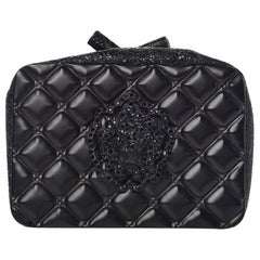Chanel Minaudière Moscow Leo Runway Rare So Black Charcoal Grey Metal Clutch