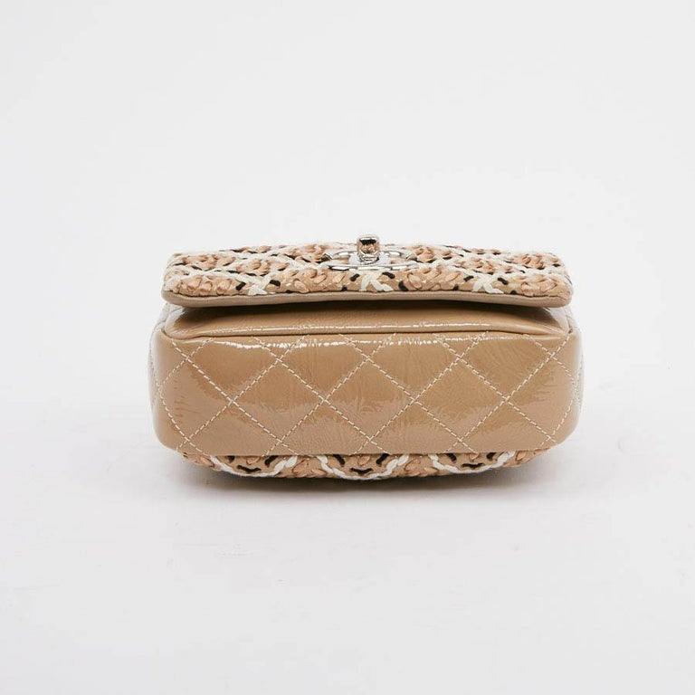 CHANEL Mini Bag in Beige Breaded Leather with Quilted Effect For Sale 2