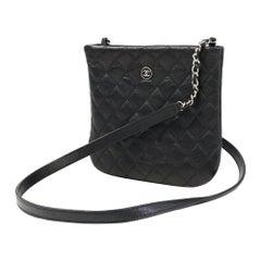 CHANEL Mini chain shoulderー bag Womens shoulder bag black x silver hardware