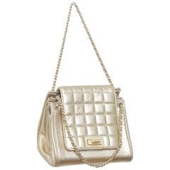 Chanel Mini Chocolate Bar Gold Accordion Flap Bag