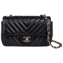 Chanel Mini Classic Chevron Flap Bag