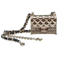 Chanel Mini Handbag Necklace Choker   New With Tags
