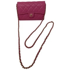 Chanel Mini Hot Pink Wallet On Chain Bag