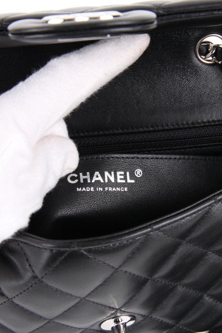 Chanel Mini Rectangular Lambskin Silver Hardware 2019 In New Condition For Sale In Baarn, NL