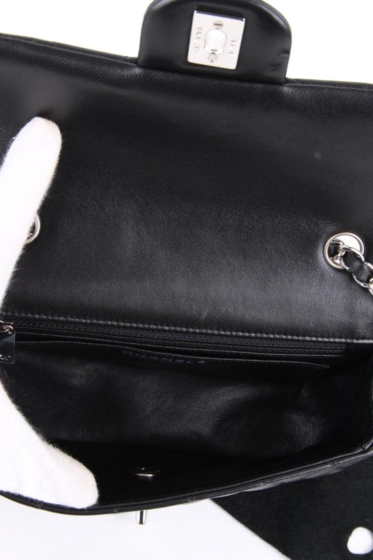 Women's or Men's Chanel Mini Rectangular Lambskin Silver Hardware 2019 For Sale