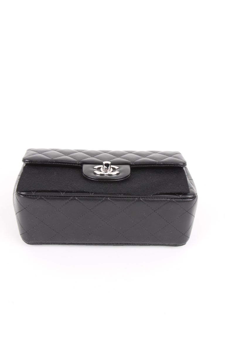 Chanel Mini Rectangular Lambskin Silver Hardware 2019 For Sale 3