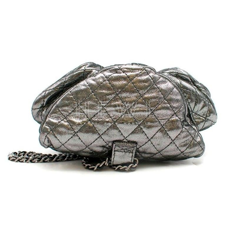 Chanel Mini Silver Split-Zip Backpack 1