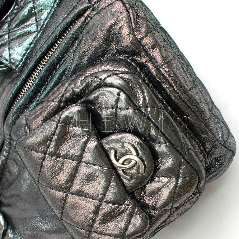 Chanel Mini Silver Split-Zip Backpack 2