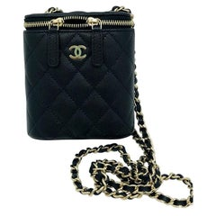 Sold Out - Chanel Mini Vanity Bag - Black Caviar Gold Hardware - New Condition