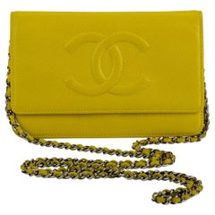 Chanel Mint Lemon Caviar Crossbody Bag