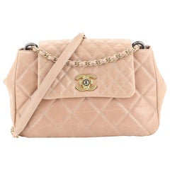 Chanel Mix Accordion CC Flap Bag Quilted Glazed Calfskin Medium