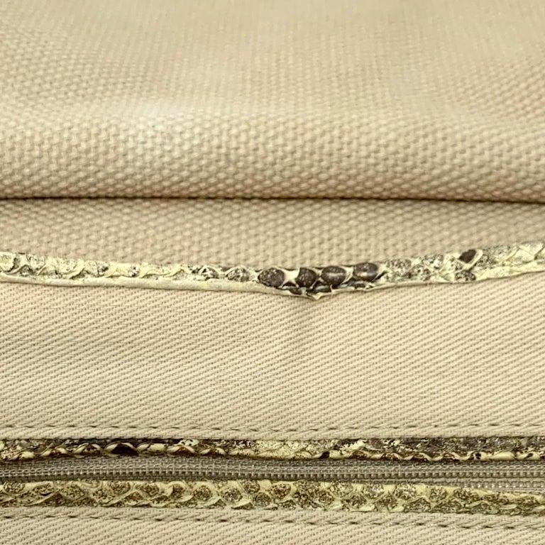 Chanel Mixed Media Snakeskin Flap Bag For Sale 7