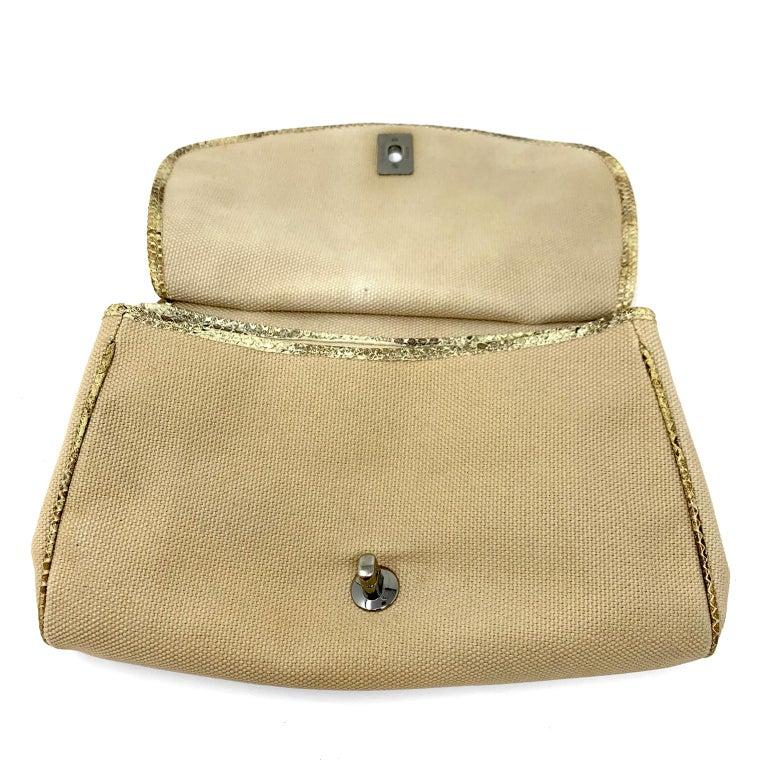Chanel Mixed Media Snakeskin Flap Bag For Sale 12