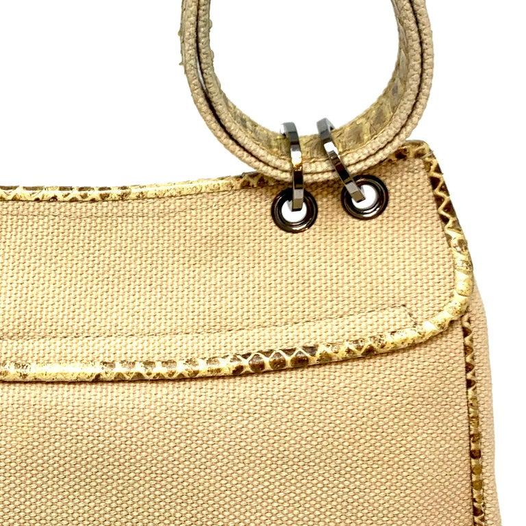 Chanel Mixed Media Snakeskin Flap Bag For Sale 15