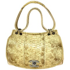 Chanel Mixed Media Snakeskin Flap Bag