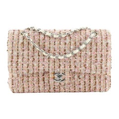 Chanel Mobile Art Classic Double Flap Quilted Tweed Medium