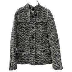 CHANEL Mock Neck Wool Jacket